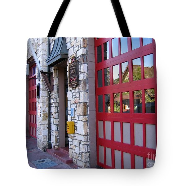 Tote Bag featuring the photograph Carmel By The Sea Fire Station by James B Toy