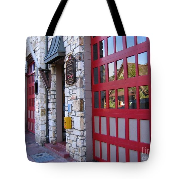 Carmel By The Sea Fire Station Tote Bag