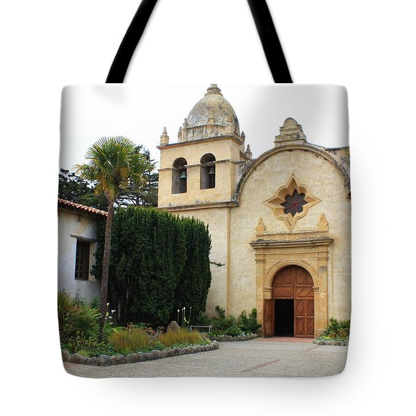Carmel Mission Church Tote Bag