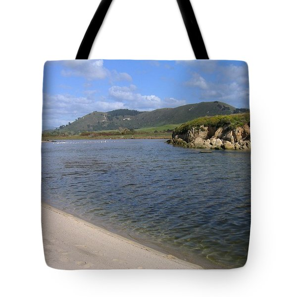 Carmel River Lagoon Tote Bag by James B Toy