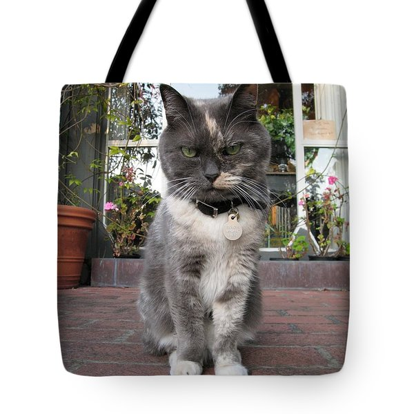 Tote Bag featuring the photograph Carmel Shopkeeper by James B Toy