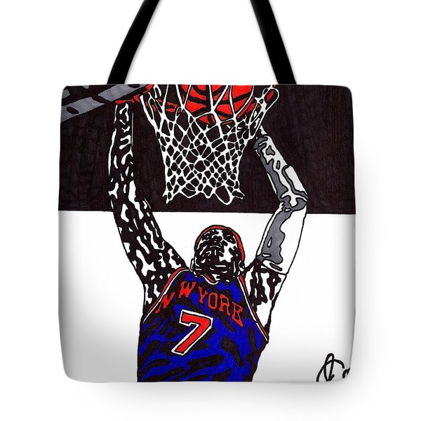 Carmelo Anthony Tote Bag by Jeremiah Colley