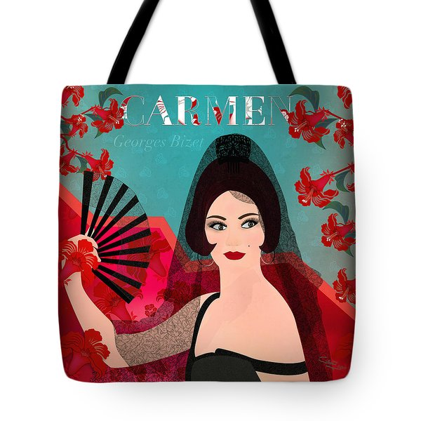 Carmen - Limited Edition 1 Of 15 Tote Bag by Gabriela Delgado