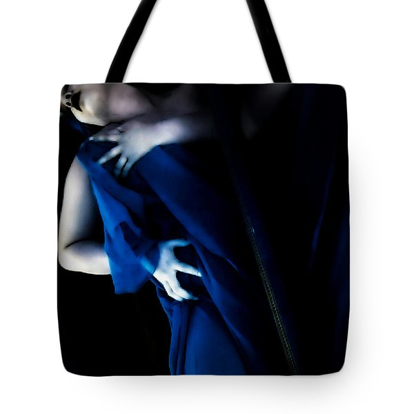 Carnal Blue Tote Bag by Jessica Shelton