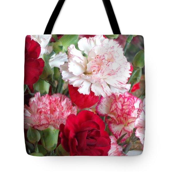 Carnation Cluster Tote Bag