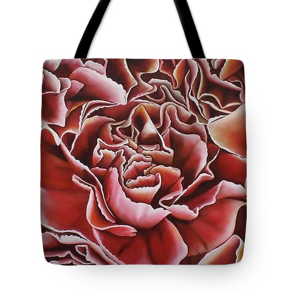 Carnations Tote Bag by Paula Ludovino