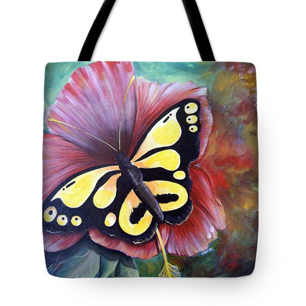 Carnival Butterfly Tote Bag