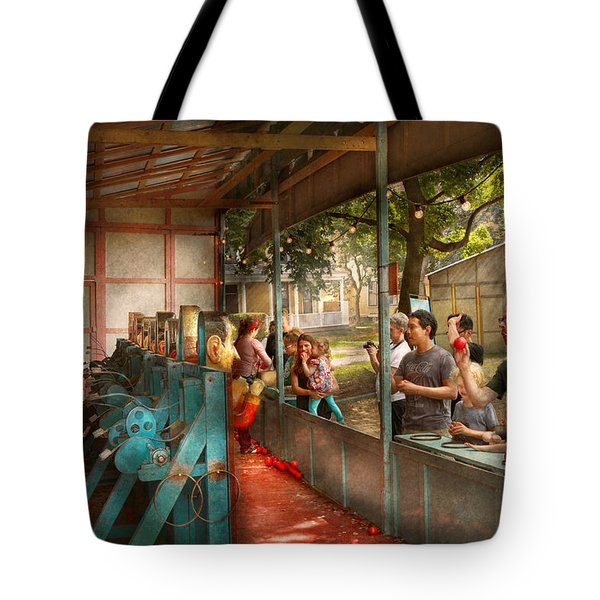 Carnival - Game - A Game Of Skill  Tote Bag by Mike Savad