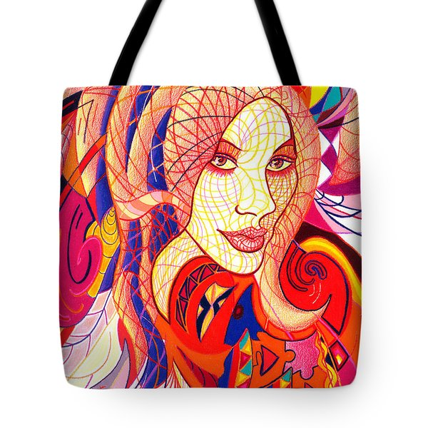 Carnival Girl Tote Bag by Danielle R T Haney
