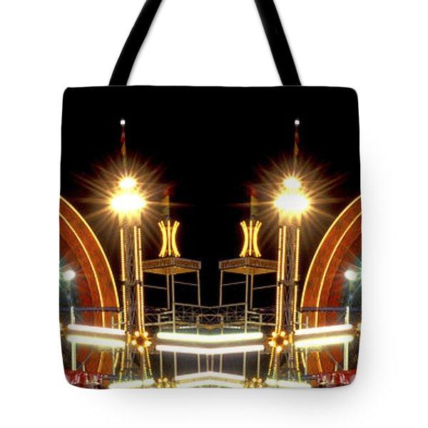 Carnival Light Patterns At Night Tote Bag