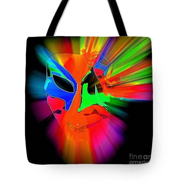 Carnival Mask In Abstract Tote Bag