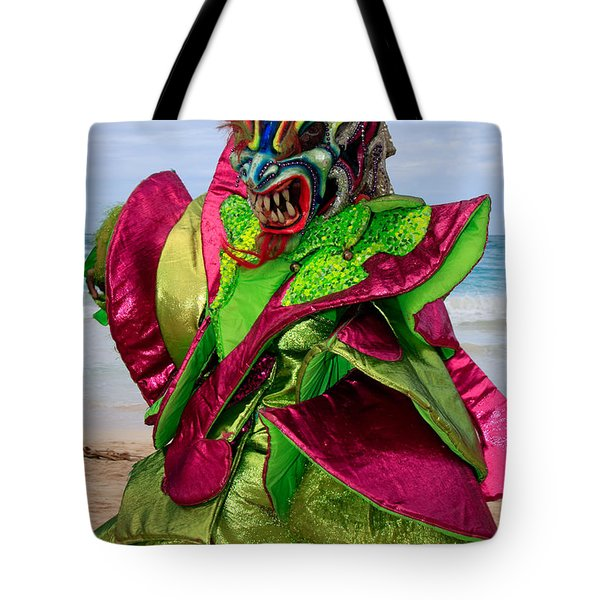 Carnival On The Beach Tote Bag by Karen Lee Ensley