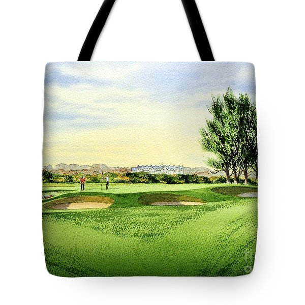 Carnoustie Golf Course 13th Green Tote Bag