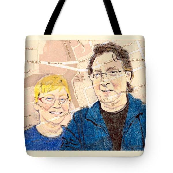 Carol And Gord Of London Tote Bag