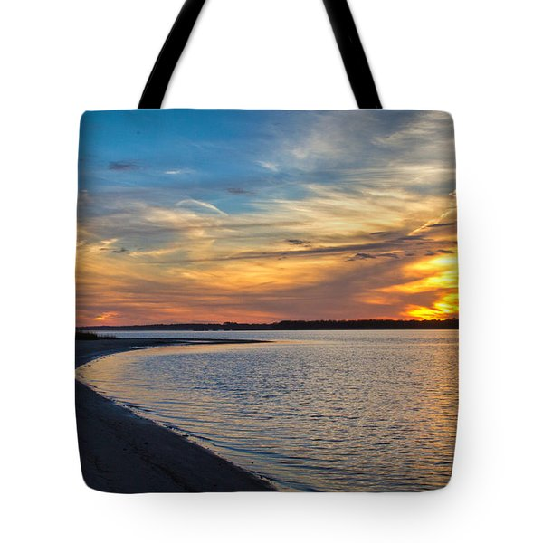 Carolina Beach River Sunset II Tote Bag