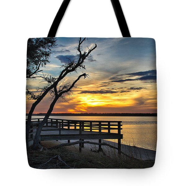 Carolina Beach River Sunset Tote Bag