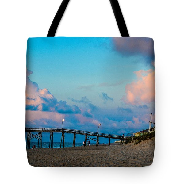 Carolina Blue Over Kure Beach Tote Bag by Mary Ward