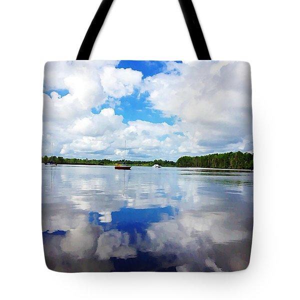 Carolina Blue- Washington Nc Tote Bag