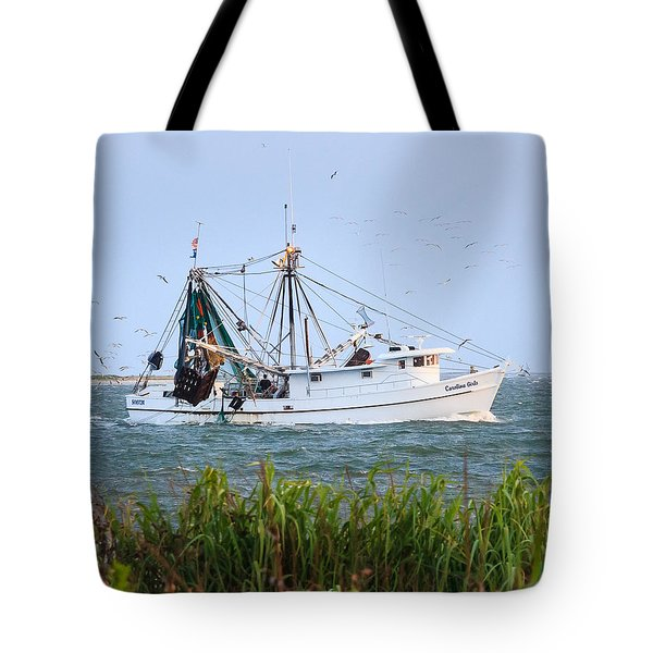 Carolina Girls Shrimp Boat Tote Bag