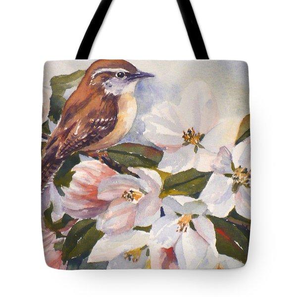 Carolina Wren Tote Bag