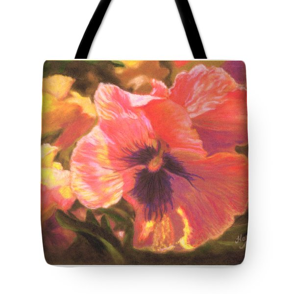 Caroline's Pansies Tote Bag