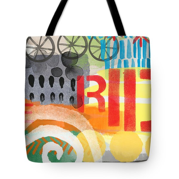 Carousel #6 Ride- Contemporary Abstract Art Tote Bag