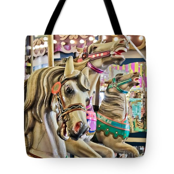 Carousel At Casino Pier Tote Bag
