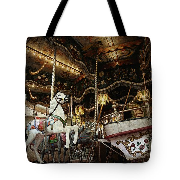 Tote Bag featuring the photograph Carousel by Barbara Orenya