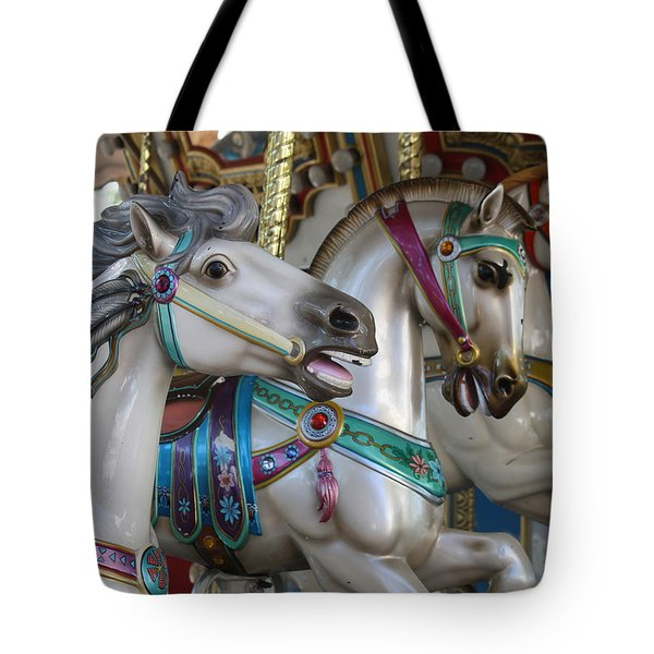 Carousel Tote Bag by Donna Walsh