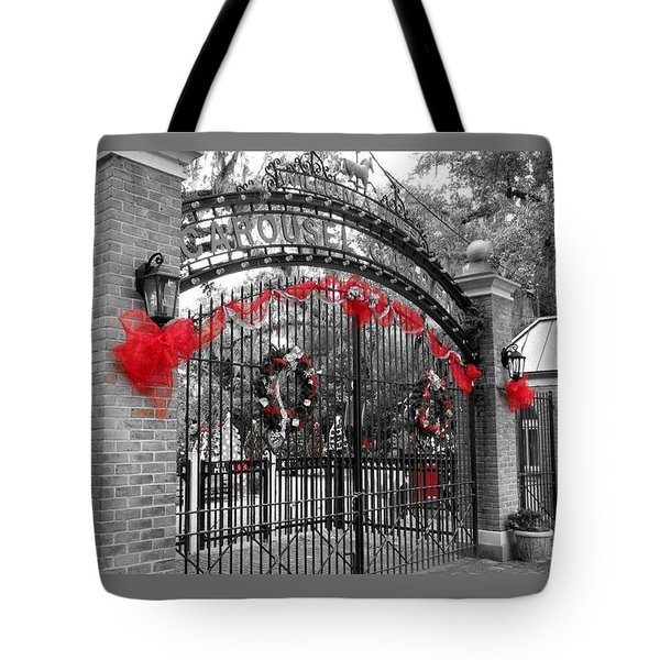 Carousel Gardens - New Orleans City Park Tote Bag by Deborah Lacoste