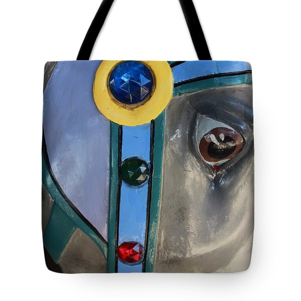 Tote Bag featuring the photograph Carousel Horse by Diane Alexander