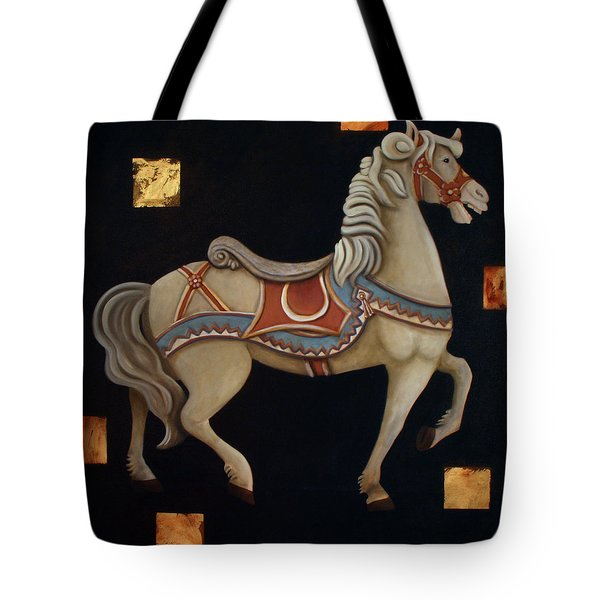 Carousel Horse Tote Bag by Gerry High