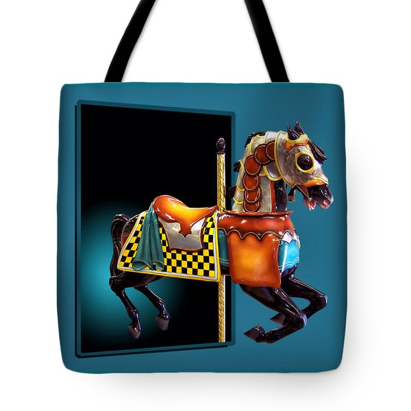 Carousel Horse Left Side Tote Bag by Thomas Woolworth