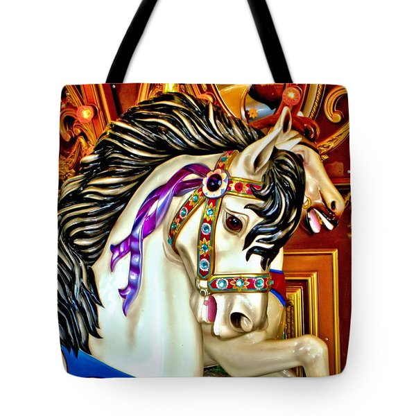 Carousel Horse Tote Bag by Margaret Newcomb