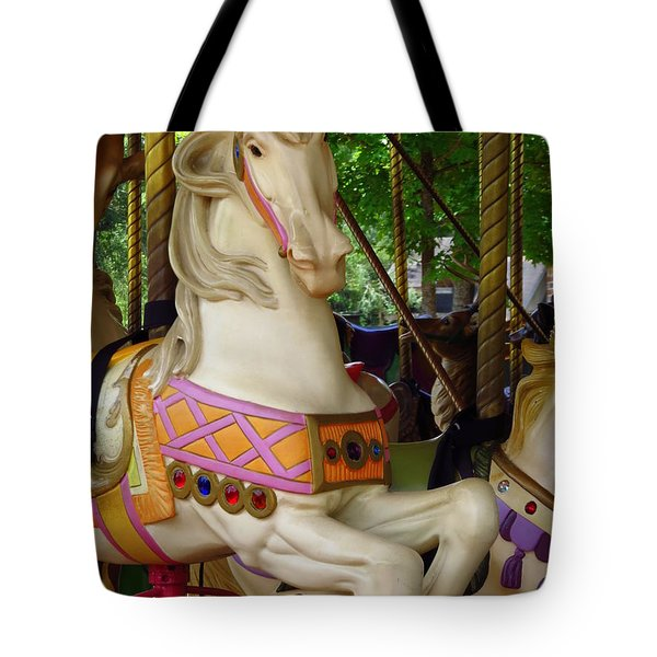 Tote Bag featuring the photograph Carousel Horse by Phyllis Beiser