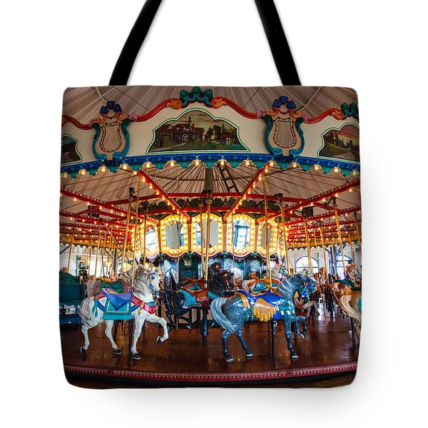Tote Bag featuring the photograph Carousel Ride by Jerry Cowart