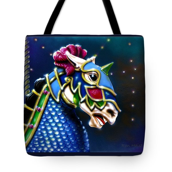 Tote Bag featuring the painting Carousel  by Ron Haist