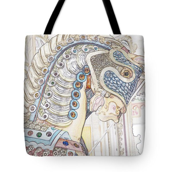 Carousel Stallion Tote Bag