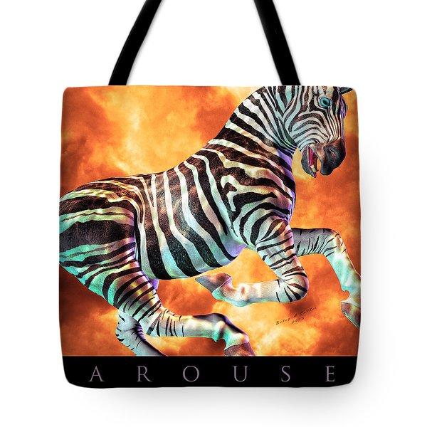 Carousel Zebra Tote Bag by Betsy Knapp