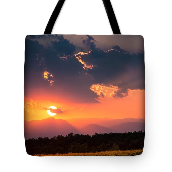 Tote Bag featuring the photograph Carpathian Sunset by Mihai Andritoiu