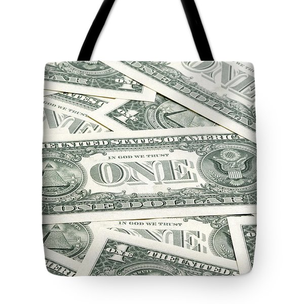 Tote Bag featuring the photograph Carpet Of One Dollar Bills by Lee Avison