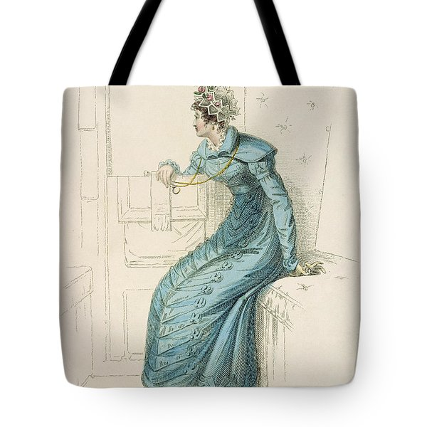 Carriage Dress, Fashion Plate Tote Bag