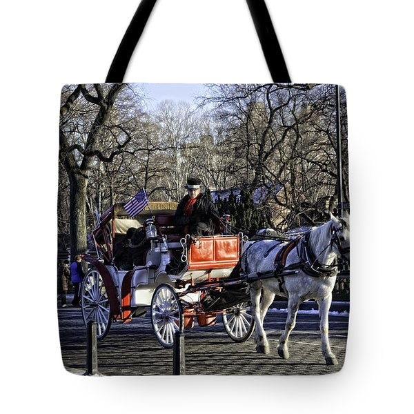 Carriage Driver - Central Park - Nyc Tote Bag by Madeline Ellis