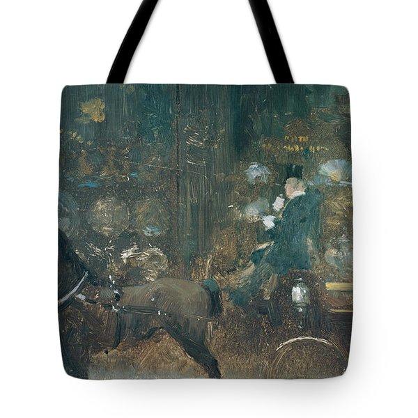 Carriage Ride Tote Bag by Giuseppe De Nittis