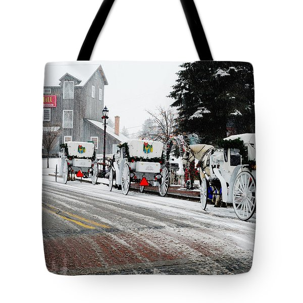 Carriage Ride Tote Bag by Janice Adomeit