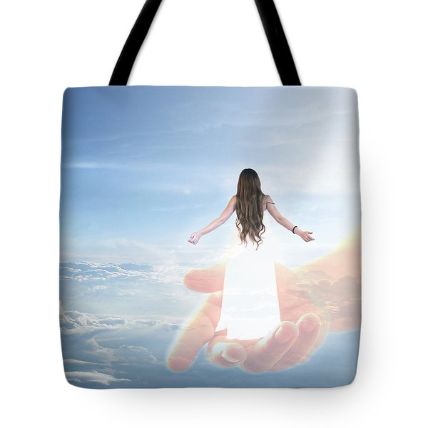 Carried By God's Hand Tote Bag