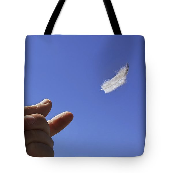 Carried On Wind Tote Bag