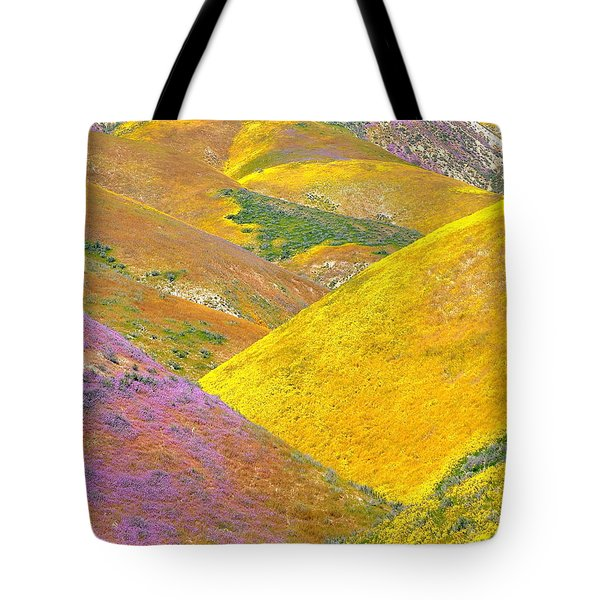 Carrizo Wildflowers Vertical Tote Bag by Marc Crumpler