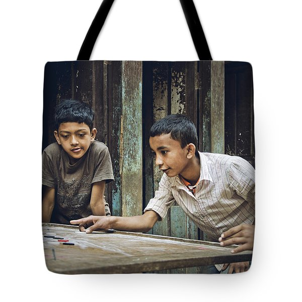 Carrom Boys Tote Bag