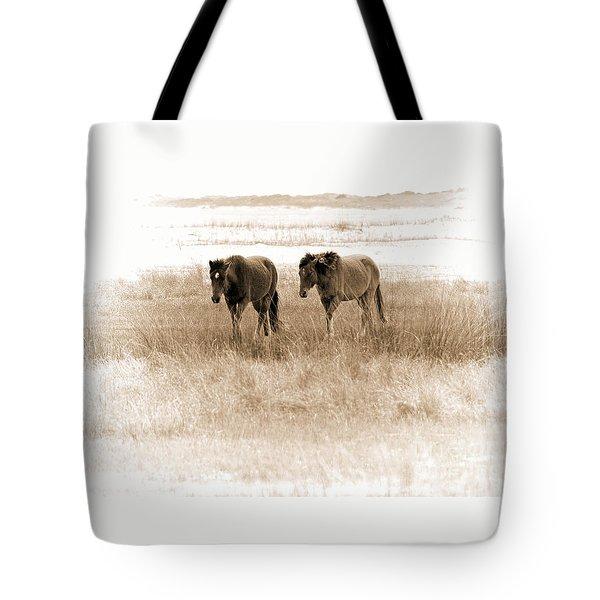 Carrot Island Ponies Tote Bag